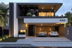 House design, villa design, modern house plans, residential architecture, a Modern House Facades, Modern Architecture House, Modern House Plans, Architecture Design, Residential Architecture, Computer Architecture, Duplex House Design, House Front Design, Modern House Design
