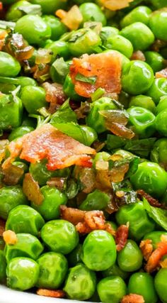 Sauteed Peas And Bacon Recipe — Dishmaps