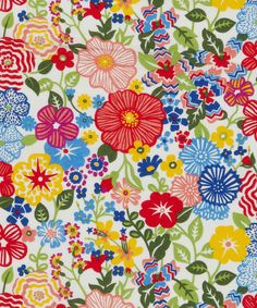 Beths Flowers A Tana Lawn, Liberty Art Fabrics. Shop more from the Liberty Art Fabrics collection online at Liberty.co.uk