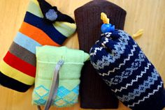 #diy If you got a new point-and-shoot camera for a holiday gift and are now in need of a crafty case idea, here are a few versions of the supereasy no-sew sock camera sleeve concept.