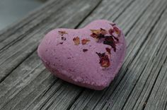 Two Rose and Vanilla Heart Bath Bombs by MeltAwayBathBombs on Etsy