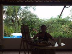 Leila ENGELS (née en 1969) peintre, ici au Brésil