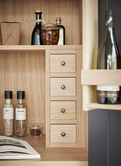 joinery details inside a pantry cupboard