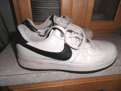 Nike Air Force 1'07 315122 104 White Black Mens Size 12 | eBay