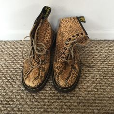 Snake skin dr. Martens Great condition and interesting pattern Dr. Martens Shoes Combat & Moto Boots