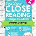 FIFTY-TWO original 2nd grade leveled reading passages and close reading activities perfectly aligned to Common Core! Standards RI.2.11-RI.2.8 each ...