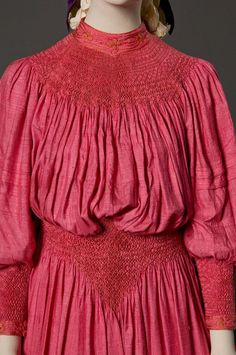 Day dress Attributed to Liberty & Company, London c.1893-97 FIDM Museum display