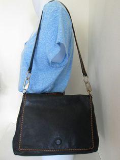 Italian Designer PLINIO VISONA Black Soft Leather Flap Over Shoulder Bag Purse  | Clothing, Shoes & Accessories, Women's Handbags & Bags, Handbags & Purses | eBay!