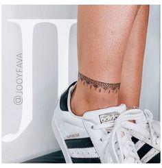Ankel Tattoos, Leg Tattoos, Body Art Tattoos, Small Tattoos, Flower Tattoos, Tatoos, Piercing Tattoo, 27 Tattoo, Ankle Tattoos For Women Anklet