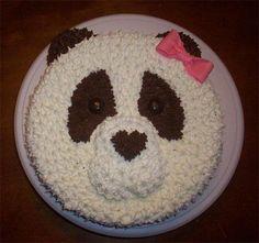 Panda Cake Baby 1st Birthday Cake, Panda Birthday Cake, Cake Cookies, Cupcake Cakes, Cupcakes, Deer Cakes, Panda Cakes, Panda Party, Animal Cakes