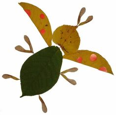 Kids art. Handmade autumn crafts. The BEETLE / Crafts for kids, ideas. Children creative / Luntiks. Crafts and art activities, games for kids. Children drawing and coloring pages