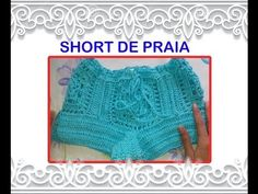 Versão destros:Biquíni verão em crochê tam. G ( 2° parte final ) # ElisaCrochê - YouTube Crochet Romper, Motif Bikini Crochet, Crochet Pants, Crochet Clothes, Crochet Top, Diy Shorts, Lace Shorts, Short Tejidos, Shorts Tutorial