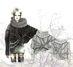Knitting illustration fashion sketches 55 ideas for 2019 Fashion Illustration Sketches, Fashion Sketchbook, Fashion Sketches, Fashion Words, Fashion Art, Fashion Design, Fashion Ideas, Fashion Installation, Fashion Portfolio Layout