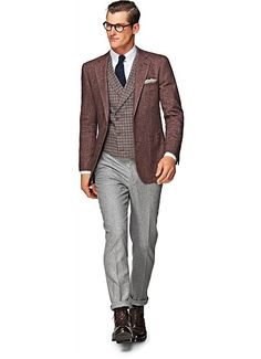 Suit Supply Havana Burgundy Blazer - 40L