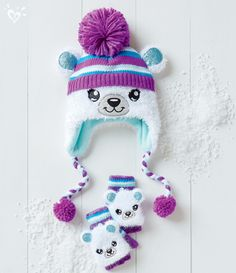 Beary cute cold weather hats and gloves.