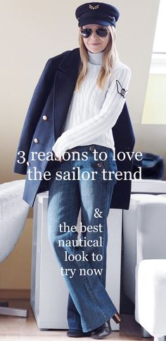 Why you need the sailor trend in your life and how to build the best casual sailor look for winter featuring the Tommy Hilfiger x Gigi sailor hat. Nautical Looks, Outfits With Hats, Winter Looks, Sailor, Winter Outfits, Tommy Hilfiger, Hacks, Good Things, Casual