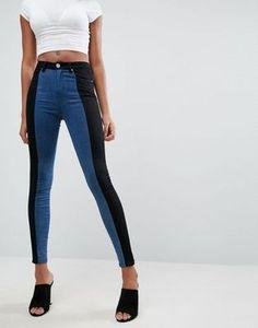 ASOS 'SCULPT ME' Premium Jeans in Two Tone Panels