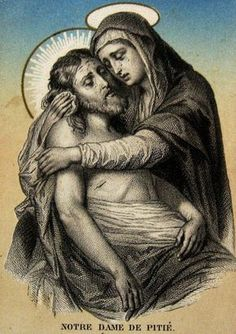 Jesus and Mother Mary Pictures Of Jesus Christ, Religious Pictures, Religious Icons, Religious Art, Blessed Mother Mary, Blessed Virgin Mary, La Pieta, La Salette, Marie Madeleine