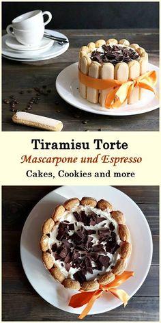 Rezept für Tiramisu Torte mit Mascarpone, Löffelbiskuits und Espresso