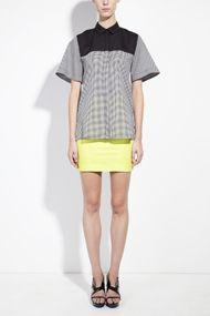 Short sleeved tunic shirt with side slitsTransparent eco fashion house HonestBy