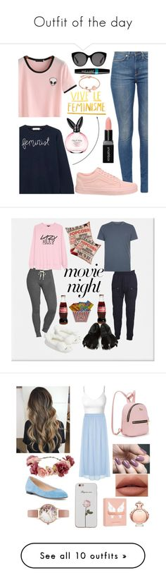 """Outfit of the day"" by batatamacabra ❤ liked on Polyvore featuring Lingua Franca, Vans, Gucci, Smashbox, Disney, Accessorize, Honeydew Intimates, Leisureland, Junya Watanabe and AllSaints"
