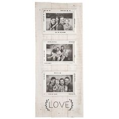 """3 Opening White """"LOVE"""" Collage Picture Frame Shabby Chic Farmhouse Country for sale online Love Collage, Collage Picture Frames, Shabby Chic Farmhouse, Farmhouse Style, Shabby Chic Frames, Diy Projects Videos, Print Coupons, Custom Canvas, Wood Planks"""