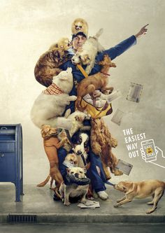 easy-taxi-easy-taxi-wrestling-clown-postman-print-389276-adeevee