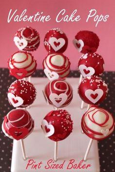Valentine Cake Pops by thebigbiglemon