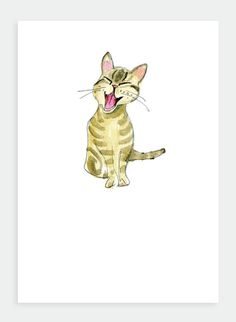 Smiling Cat #cat #poppycards #greetingcards #card #friends #design #illustration #painting #type #birthday #pretty #madeinnz #nz #newzealand #etsylove #etsy #etsysale #etsystore #etsyseller #etsyshopowner #etsyforall #etsyfinds #shopetsy #present #catillustration