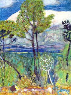 Pierre Bonnard (1867-1947) was een Frans schilder en drukker en stichtend-lid van Les Nabis. Hij is niet gemakkelijk bij een stijl in te delen. In wezen heeft hij zich onafhankelijk van de rest van de wereld ontwikkeld. Hij heeft nooit de neiging gehad om zich te meten met de rest van de wereld, en is qua ontwikkeling zijn eigen weg gegaan. Door de ziekte van zijn vrouw leidde het koppel een geïsoleerd leven.
