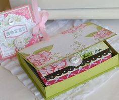 """how to make a little box from cardstock. box to hold those 3 1/2"""" x 5"""" hand made note cards..."""
