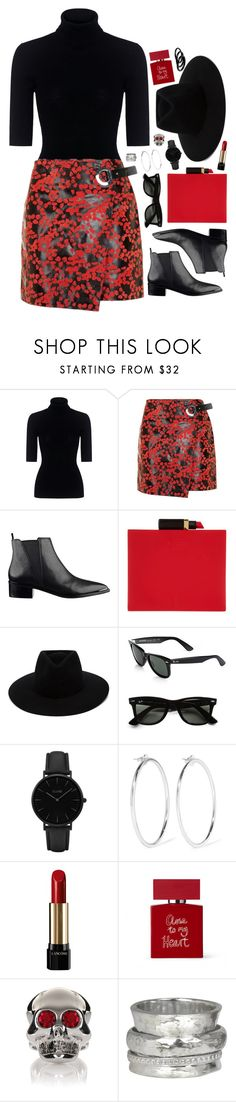 """close to my heart"" by touxe ❤ liked on Polyvore featuring Marissa Webb, Topshop, Lulu Guinness, rag & bone, Ray-Ban, CLUSE, Jennifer Fisher, Lancôme, Bella Freud and Moschino"