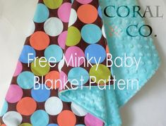 minky baby blanket pattern {plus TONS of other baby/toddler patterns on this site}