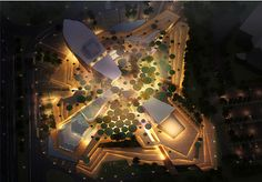 Kuwait is planning to build a city in the desert for 2,500 residents, and the Sabah Al-Ahmad Culture Center will be its nucleus. Albeit materially extravagant,