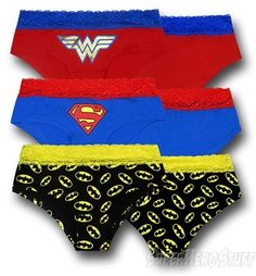 DC Heroines Juniors Lace Panties 3-Pack size xl fo 45. $24.99 before shipping.