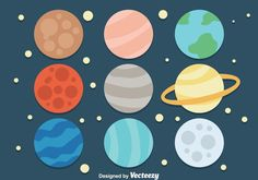 Choose from thousands of free vectors, clip art designs, icons, and illustrations created by artists worldwide! Outer Space Wallpaper, Planets Wallpaper, Best Logo Fonts, Planet Icon, Planet Drawing, Planet Vector, Solar System Crafts, Food Graphic Design, Free Planet