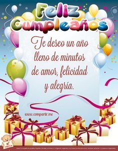 Message - Gifts for Women Spanish Birthday Wishes, Happy Birthday Notes, Happy Birthday Wishes Cards, Happy Birthday Pictures, Diy Birthday, Birthday Quotes, Birthday Greetings, Bday Cards, Happy B Day
