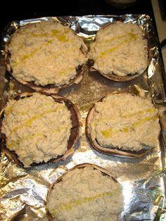 The Virtuous Wife: Crab-Cake Stuffed Portobello Mushrooms Tutorial
