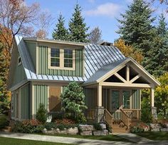 adorable cottage....love the roof and porches