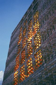 South Asian Human Rights Documentation Centre by Anagram Architects Turning brick screen facade Detail Architecture, Brick Architecture, Sustainable Architecture, Amazing Architecture, Contemporary Architecture, Asian Architecture, Ancient Architecture, Landscape Architecture, Brick Design
