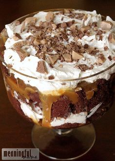 Better Than Anything Chocolate Trifle by Meaningful Mama