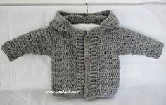 Baby Boy Cardigan With Hood Free Crochet Pattern