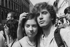 Gabriele & Helmut Nothhelfer, Couple at Jewish street festival, 1999 Two People, Arrow Keys, Close Image, Piercing, Profile, History, Couple Photos, Street, Couples