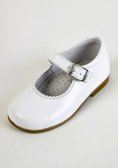 Tinny boys white leather pram loafer | Spanish Children's/Kids ...