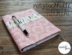 Rosalie&me // Tutorial // Scrapbook // Notizbuchhülle mit Stifthalterung // Nähen // Sewing