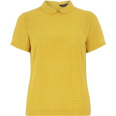 Dorothy Perkins Orange Soft Tee (700 CZK) ❤ liked on Polyvore featuring tops, t-shirts, shirts, dorothy perkins, yellow, tee-shirt, yellow checked shirt, orange top, checkered t shirt and orange shirt