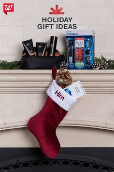 Surprise him with a stocking as well rounded as his lifestyle, with products like the Boots for Men holiday collection, Phillips Norelco seven-piece shaving set, chocolates and an iTunes gift card. All Things Christmas, Winter Christmas, Christmas Holidays, Christmas Decorations, Xmas, Homemade Gifts, Diy Gifts, Holiday Crafts, Holiday Fun