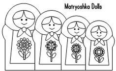 Matryoshka doll coloring for kids