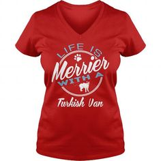 LIFE IS MERRIER WITH TURKISH VAN  V-NECKS T-SHIRTS, HOODIES  ==►►Click To Shopping Now #life #is #merrier #with #turkish #van # #v-necks #Catfashion #Cats #cat #SunfrogTshirts #Sunfrogshirts #shirts #tshirt #hoodie #sweatshirt #fashion #style