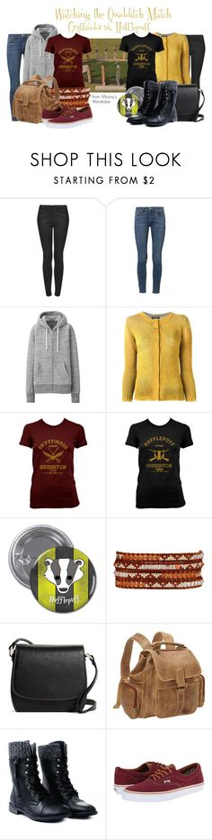 """""""Watching the Quidditch Match"""" by evalupin ❤ liked on Polyvore featuring Topshop, Paige Denim, Uniqlo, Avant Toi, Chan Luu, Brooks Brothers, Le Donne, Vans, harrypotter and hogwarts"""